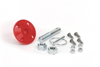 Hood Pin Kit Red Single Includes Polyurethane Isolator Pin Spring Clip and Related Hardware Daystar