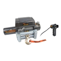 "Mile Marker 12V 12000 lb Winch, 100' 3/8"" Cable, Incl Roller Fairlead, Integrated Solenoids"