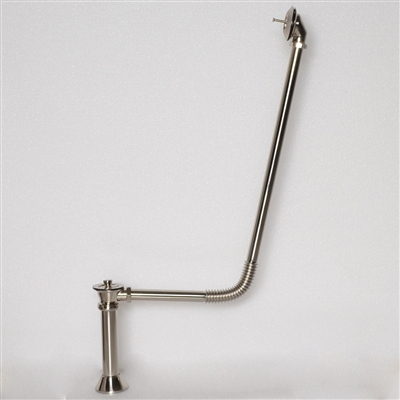 <br>BR04PN Victorian Drain with Lift Off Brass Stopper in Polished Brass Finish<br>