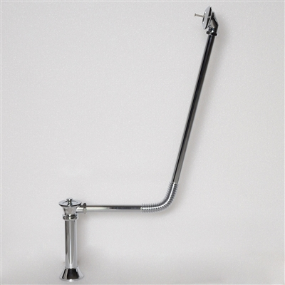 <br>BW04CHR Victorian Drain with Lift Off Brass Stopper in Chrome Finish<br>