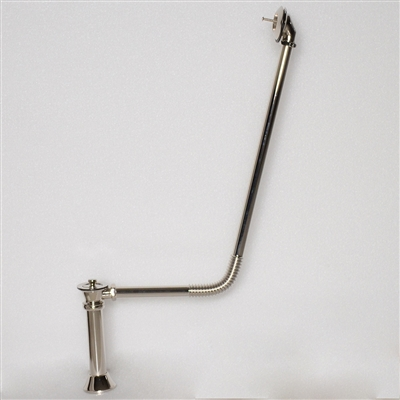 Polished Nickel Victorian Drain with Stopper