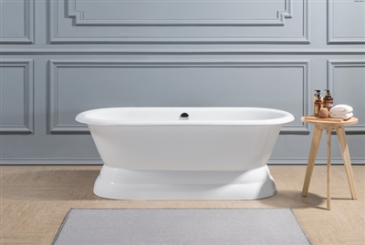 "CLDB60 60"" Cast Iron Hotel Collection Double Ended Pedestal Tub"