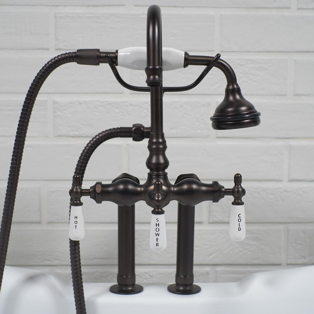 Edwardian Deck Mount Tub Faucet Oil