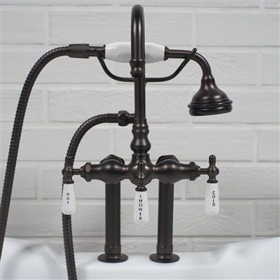 Edwardian Deck Mounted Tub Filler in Oil Rubbed Bronze