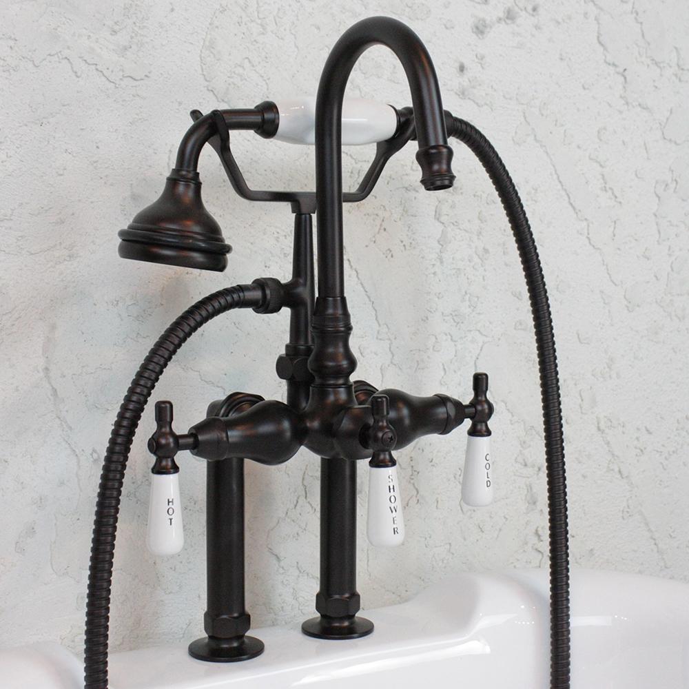 Edwardian Deck Mount Tub Faucet Oil Rubbed Bronze