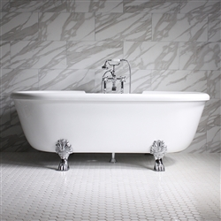 Empress 69in Water and Air Jet Clawfoot Bathtub