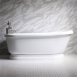 Empress 73in Water and Air Jet Pedestal Bathtub