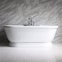 Empress 75in Water and Air Jet Pedestal Bathtub
