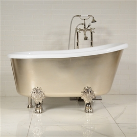 LUXWIDE Athena USLCL58 58in White Clawfoot Tub