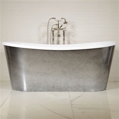 LUXWIDE Calypso ACHSK69 67in White Skirted Tub