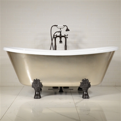 LUXWIDE Calypso USL59 59in White Clawfoot Tub