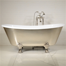 LUXWIDE Calypso USL67 67in White Clawfoot Tub
