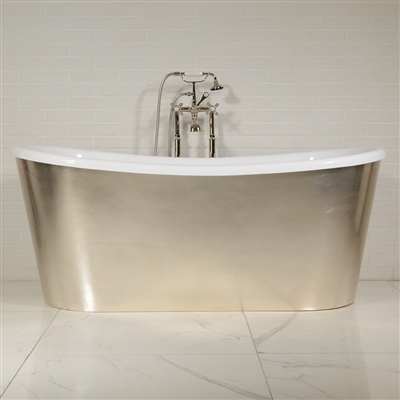 LUXWIDE Calypso USLSK73 73in White Skirted Tub