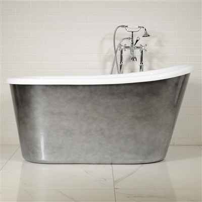 LUXWIDE Hermes 54ACHSK 54in White Skirted Tub