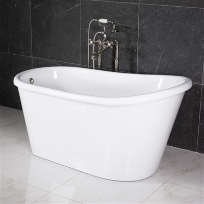 LUXWIDE Hermes 58WHSK 58in White Skirted Tub