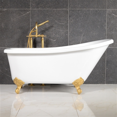 LUXWIDE LUCHINO 59in White Clawfoot Tub
