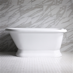 "HLFLPD65 65"" Hotel Collection CoreAcryl Acrylic Pedestal Tub with Base"
