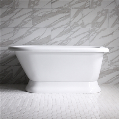 "HLFLPD56 56"" Hotel Collection CoreAcryl Acrylic Pedestal Tub with Base"