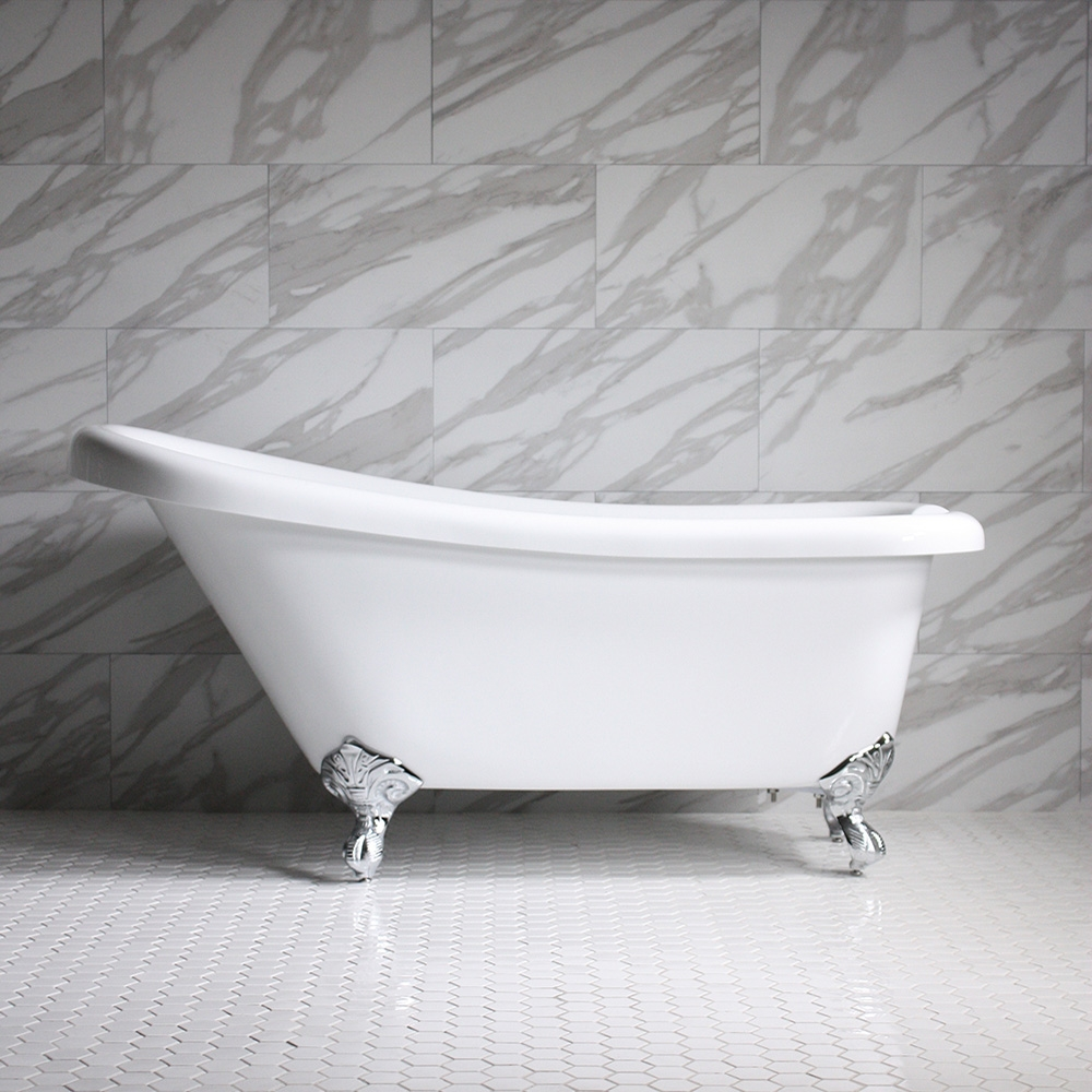 Hlsl57 57 Hotel Collection Single Slipper Clawfoot Tub With Feet