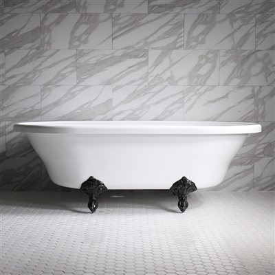 73in Acrylic Double End Clawfoot Tub with Feet