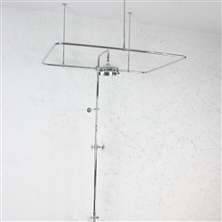 Heavy Duty CHROME Clawfoot Tub Shower Enclosure Complete with Supports