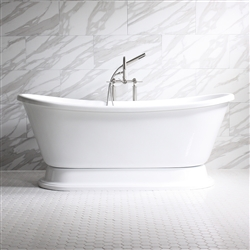 ISABETTA Acrylic White French Bateau Tub