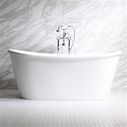 Verona Air 59in Acrylic White French Bateau Tub