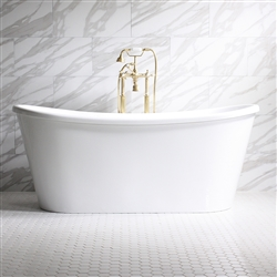 Verona Air 67in Acrylic White French Bateau Tub