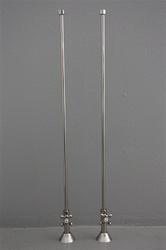 SL01VLVPN Nickel Supply Lines for Bathtubs