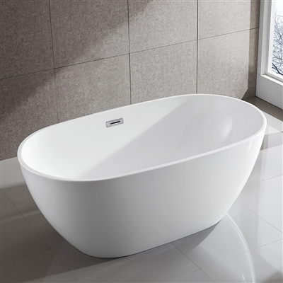 SanSiro Aquino 59inx32in Hot Air Jetted Bathtub