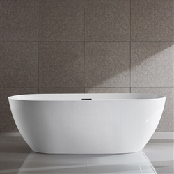 SanSiro Aquino 67x32in Hot Air Jetted Bathtub