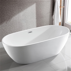 SanSiro Aquino 71x32in Hot Air Jetted Bathtub