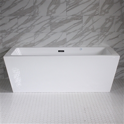 <br>SanSiro 'Asti59CAJ' 59 x 34 inch Center Drain HOT AIR JETTED High Gloss White ACRYLIC Freestanding Bathtub
