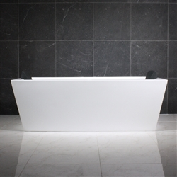 SanSiro 59inx34in Glossy White Hydro Spa Bathtub