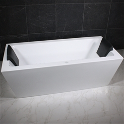 <br>SanSiro 'Asti67CHS' 67 x 34 inch Center Drain HYDRO-SPA Water and Air Jetted High Gloss White ACRYLIC Freestanding Bathtub