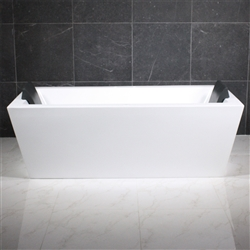 <br>SanSiro 'Asti73CHS' 73 x 34 inch Center Drain HYDRO-SPA Water and Air Jetted High Gloss White ACRYLIC Freestanding Bathtub