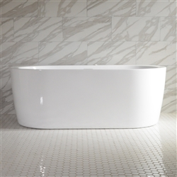 SanSiro Augusta 67in End Drain Hot Air Jetted Tub