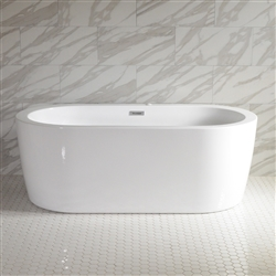 SanSiro Augusta 71in Center Drain Hot Air Jet Tub