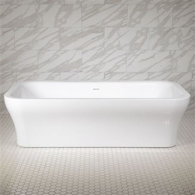 SanSiro Eclipse 78in Center Drain Hot Air Jet Tub