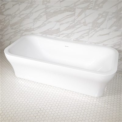 SanSiro Eclipse 78in HydroSpa Freestanding Bathtub