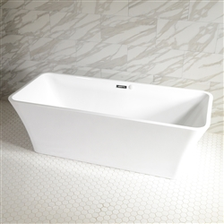 SanSiro Sandava 59in Center Drain Hot Air Jet Tub