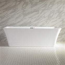 SanSiro Sandava 67in Center Drain Hot Air Jet Tub