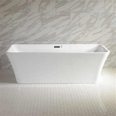 SanSiro Sandava 73in Center Drain Hot Air Jet Tub