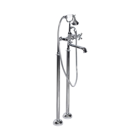 'Victoriana' Freestanding British Telephone Style Tub Faucet in Chrome