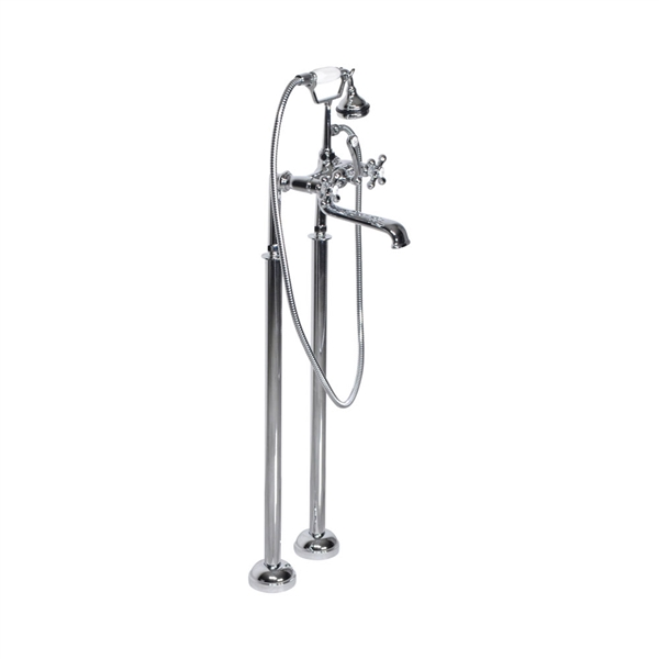 "<span class=""newbadge"">Sale!</span>'Victoriana' Freestanding British Telephone Style Tub Faucet in Chrome"