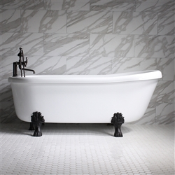 "<br>SS67W 67"" SanSiro WATER Jetted Single Slipper Clawfoot Tub Package"