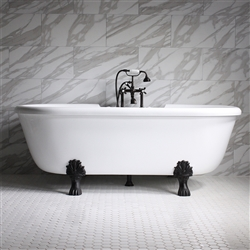 SanSiro 75in Whirlpool Hot Air Jetted Clawfoot Tub
