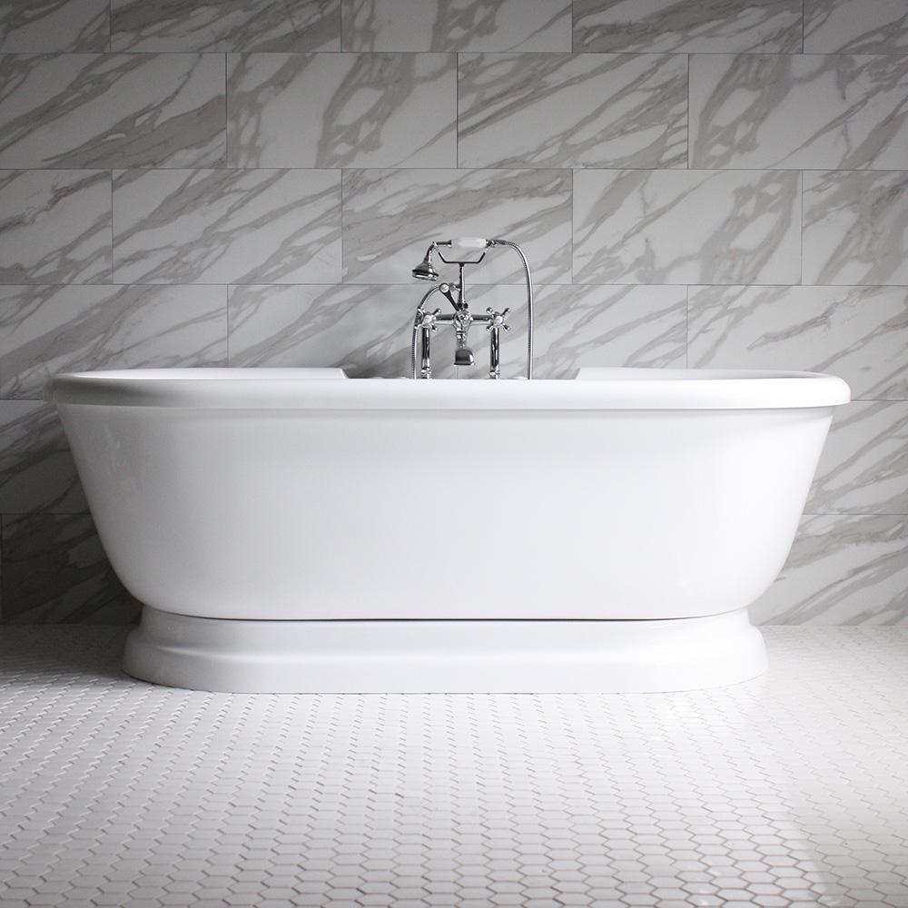 Sansiro Air Jetted Vintage Pedestal Free Standing Bath Tub