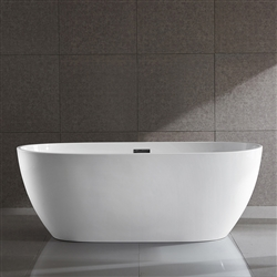 SanSiro Thin Modern 63in Oval Acrylic Bathtub