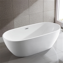 SanSiro Thin Modern 67in Oval Acrylic Bathtub